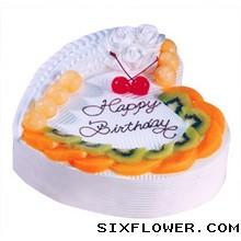 心形鲜奶蛋糕