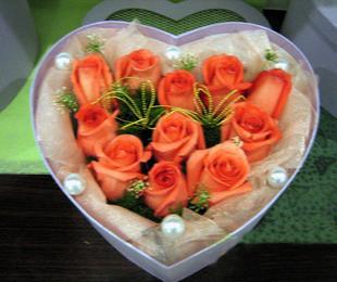 11支玫瑰花盒/温馨相伴