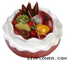 鲜奶水果蛋糕/8寸