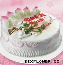 米旗蛋糕/鹤寿连年