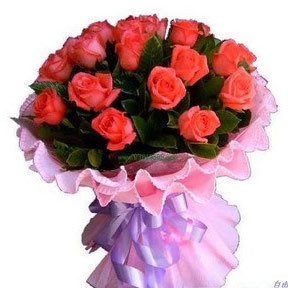我只爱你/21支粉玫瑰