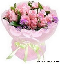 21枝粉玫瑰/海枯石烂