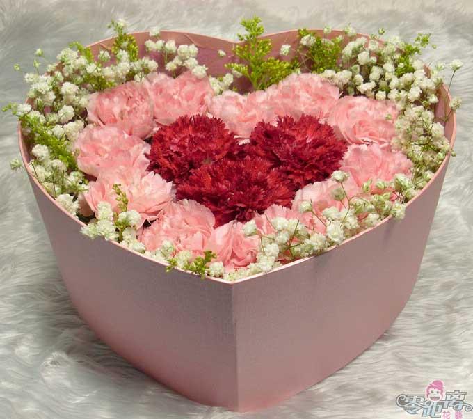 15枝盒装康乃馨/妈妈的回忆