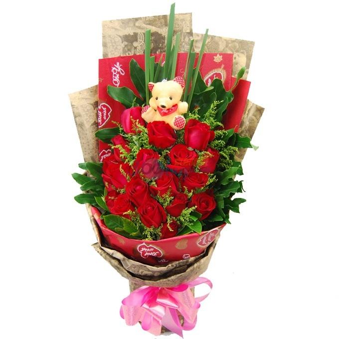 18枝红玫瑰/青春美丽动人的你