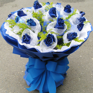 因你而精彩/19枝蓝玫瑰