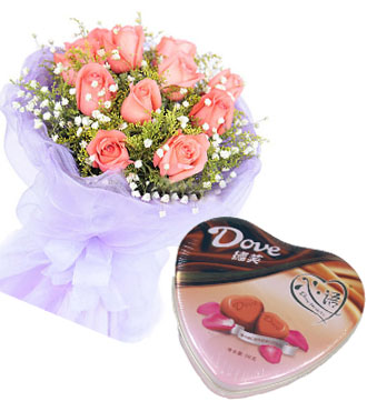 爱就爱/玫瑰+巧克力