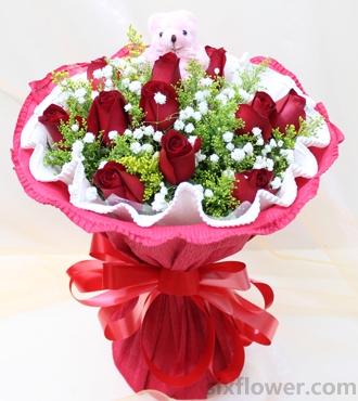 生日快乐/11枝红玫瑰