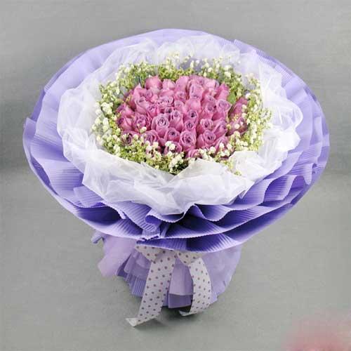 誓言一生一世/19支紫玫瑰