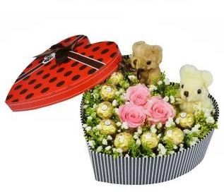 时尚女人/3枝玫瑰精美礼盒