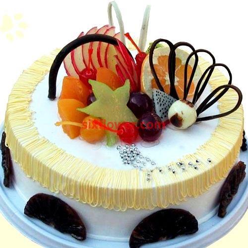 有你一路陪伴真好/水果蛋糕8寸