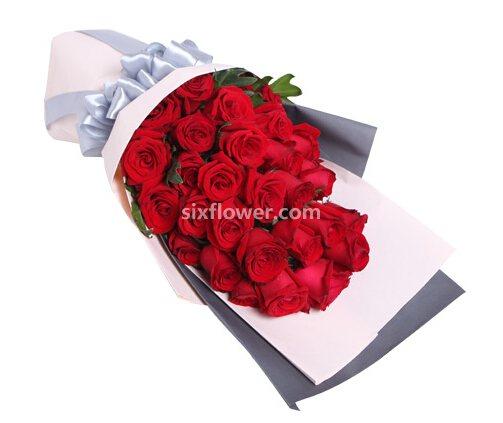 红玫瑰29支/千山万水陪你一起走过