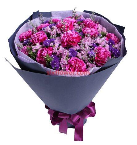 16支紫康乃馨/最温馨的话
