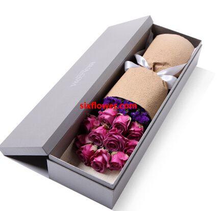 紫玫瑰11支/你是如此的珍贵