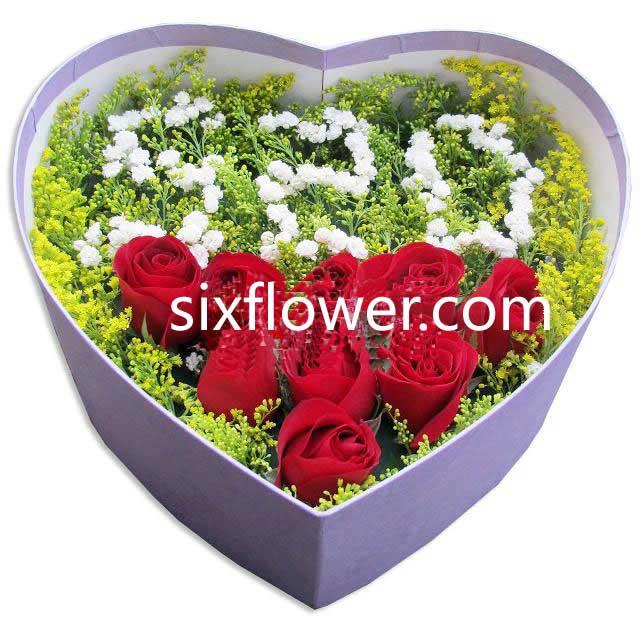一生风雨携手/9支玫瑰礼盒