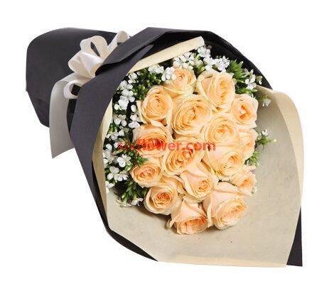 香槟玫瑰16支/与你欢乐相伴