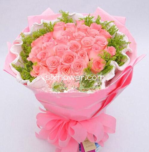 我要当一棵树/33枝顶级粉玫瑰