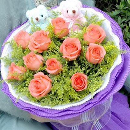我的小甜心/11支粉色玫瑰