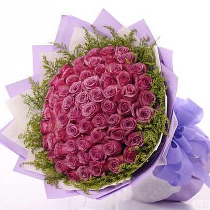 热切的期盼/66支紫玫瑰