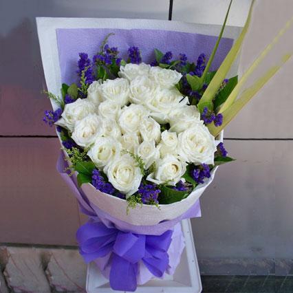 爱是神奇的/24枝白玫瑰