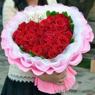 33支红色玫瑰/一生情,永不变