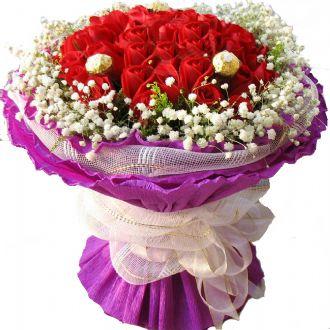脉脉情丝/42支红玫瑰