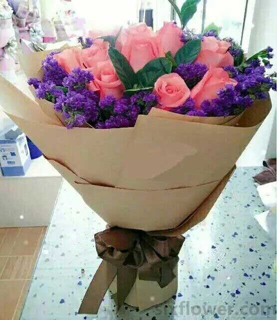 你是我今生最难记忘的/19枝粉色玫瑰