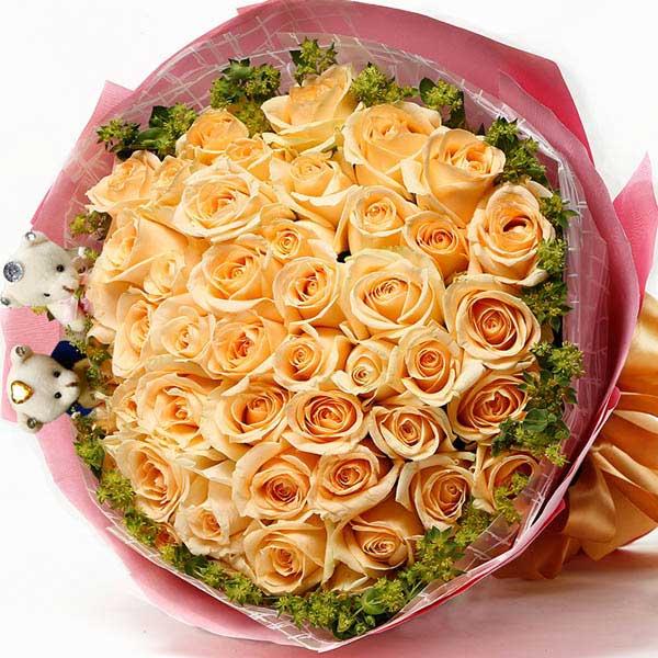 甜心/33枝香槟玫瑰