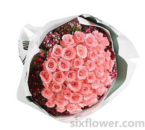 爱的情绪/50支粉玫瑰