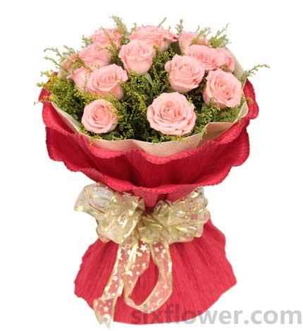 浪漫爱情诗/19枝粉玫瑰