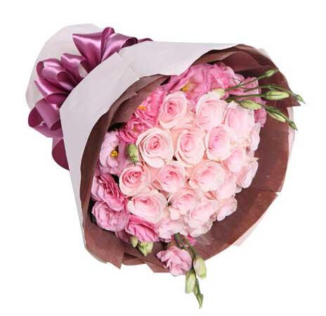 你就是我的天使/粉玫瑰19支