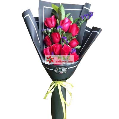 暖暖的祝福心情要好/11支红色玫瑰