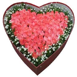 轰轰烈烈的爱你一辈子/99枝粉色玫瑰礼盒