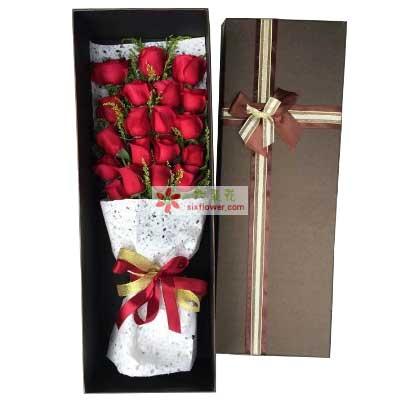 无时不爱你/19枝红色玫瑰
