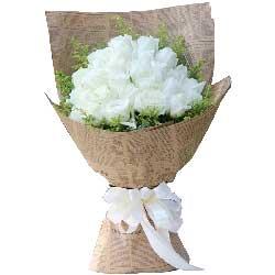 有你就好/33支白色玫瑰