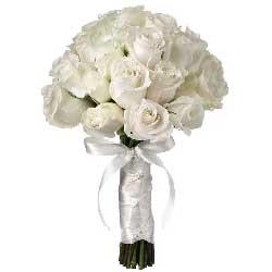 手捧花/29枝白色玫瑰