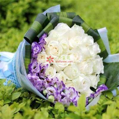 你是我最惦记的人/25支白色玫瑰