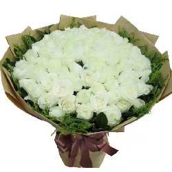 爱你的心始终不改变/99枝白色玫瑰