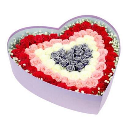 永远幸福快乐的心/99支玫瑰礼盒
