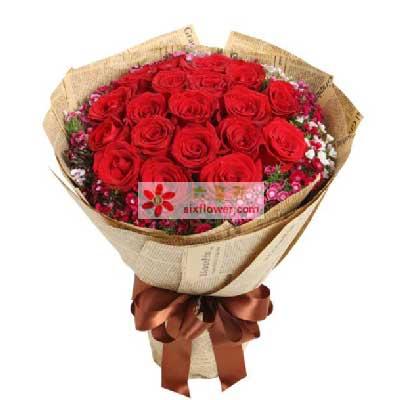 把心送给最爱的人/红玫瑰19支
