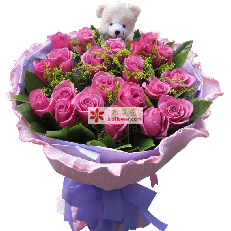 终于找到了你/21支紫玫瑰