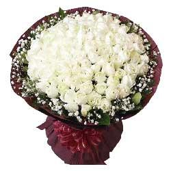 一起度过一生一世/99支白色玫瑰