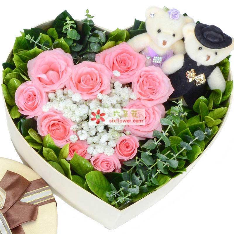 想你/11枝粉玫瑰礼盒