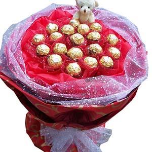 一生的幸福/19颗费列罗巧克力花束