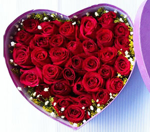 说不完/33枝红玫瑰盒装鲜花