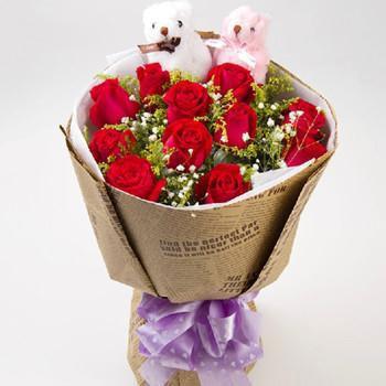真诚道歉/15支红玫瑰