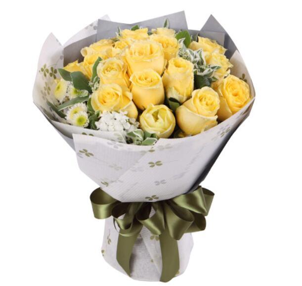 19支黄玫瑰/想你太深