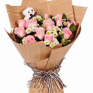 和你斯守/12支粉玫瑰