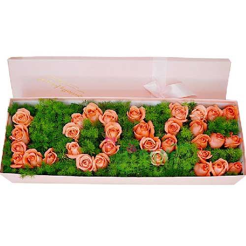 爱你的心不变/33支玫瑰礼盒