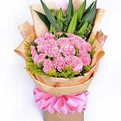 祝您寿与天齐/33枝粉色康乃馨百合