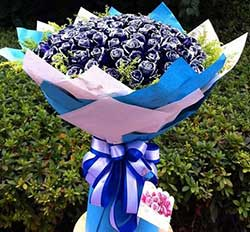 99枝蓝色妖姬/美丽属于你
